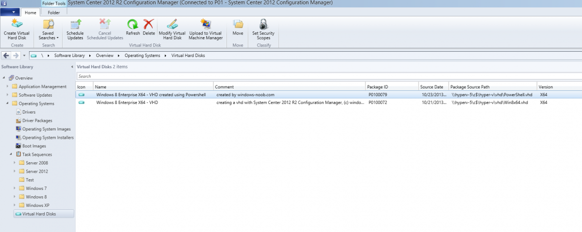how can I use the new VHD feature in System Center 2012 R2