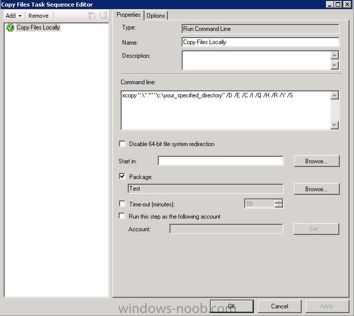 Run bat file using SCCM 2007 - Configuration Manager 2007 -  www.windows-noob.com