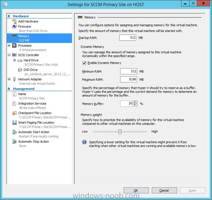 Windows Server 2012 R2 - Hyper-V Memory Settings.png