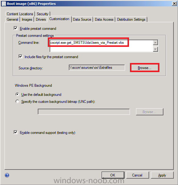 Using sccm 2012 rc in a lab part 10 using prestart and for Windows distribution