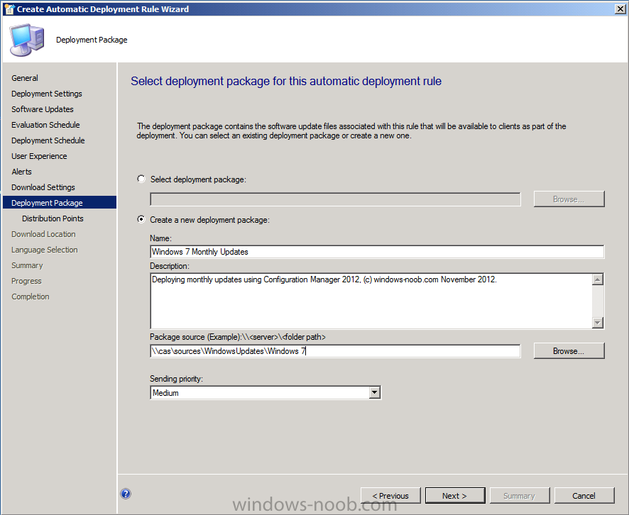 create a new deployment package.png
