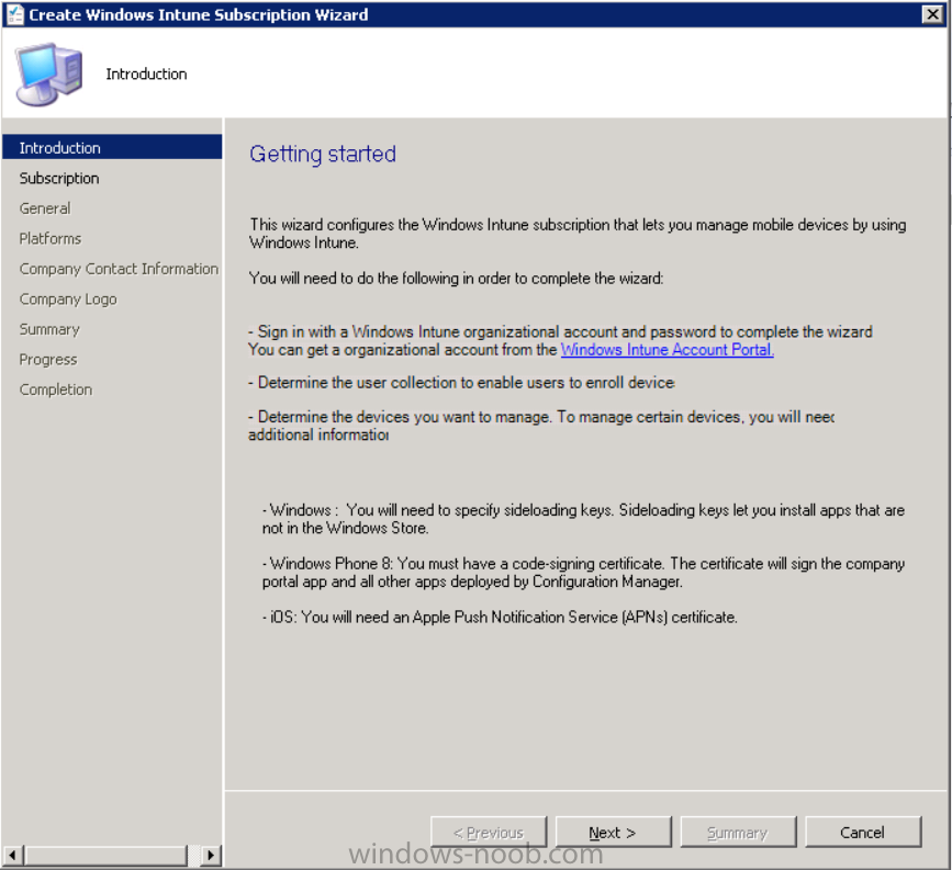 create windows intune subscription wizard.png
