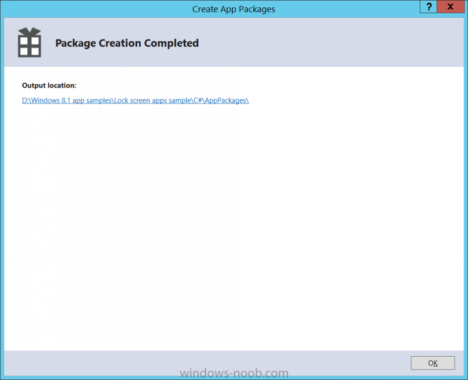 package creation completed.png