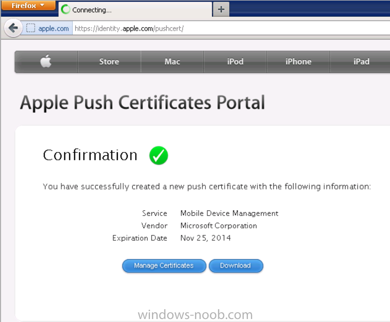 you have successfully created a new push certificate with the following information.png