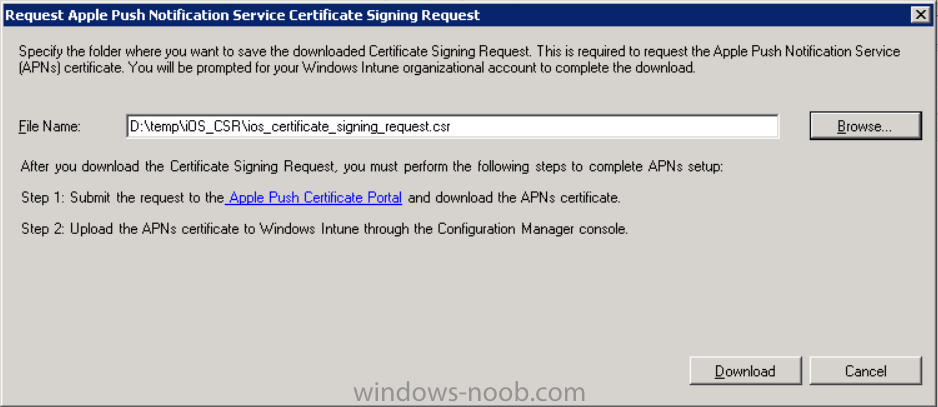 where to store the certificate signing request.png