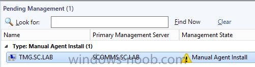 TMG SCOM Agent Pending.png
