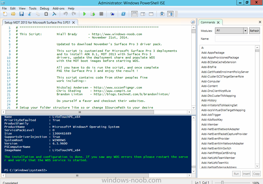 Updated Powershell script with November drivers for