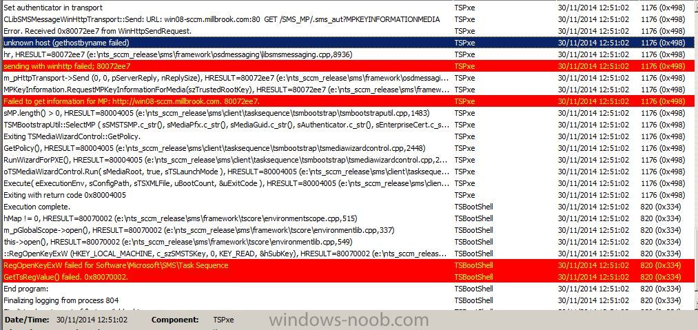 SCCM PXE client rebooting after preparing network connections ...