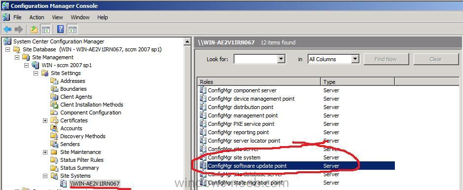 Configuring Software Update Point within SCCM - Software