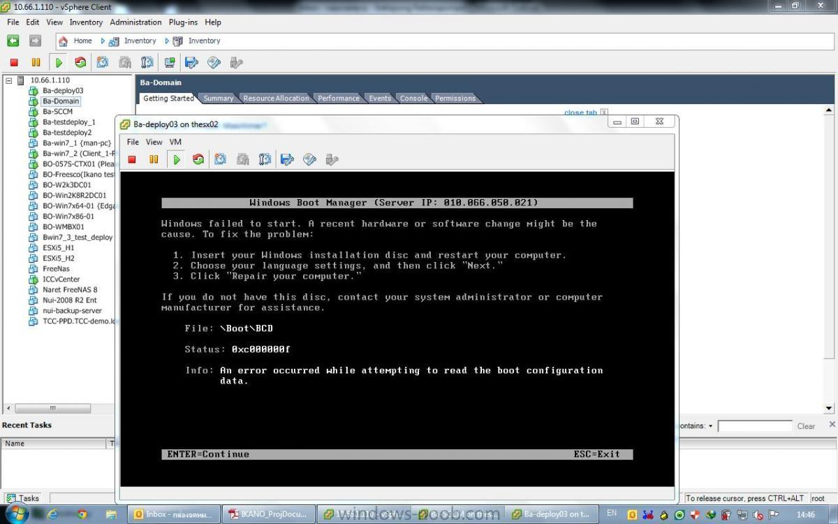 SCCM 2012 Deploy OS - PXE Boot getting an error 0xc000000f - Deploy