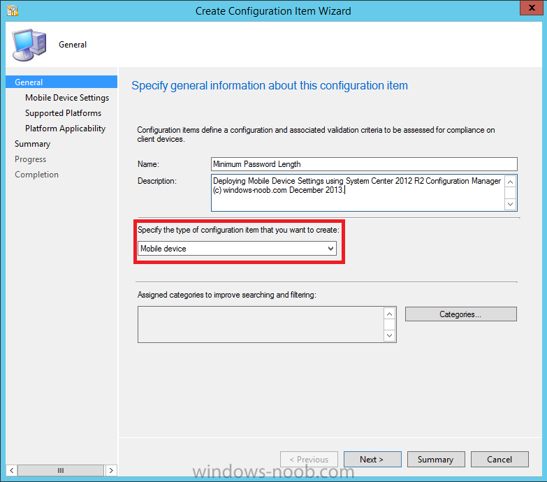 create configuration item - Name and configuration item type.png
