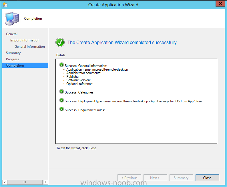 create application wizard completed successfully.png