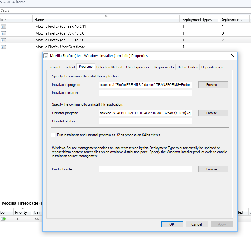 Firefox package with sccm - Configuration Manager 2012 - www