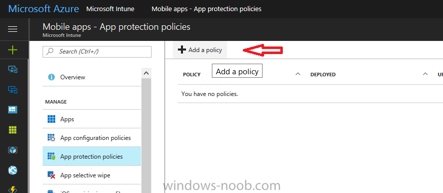 Using Intune to enable WIP to protect Enterprise data on Windows 10