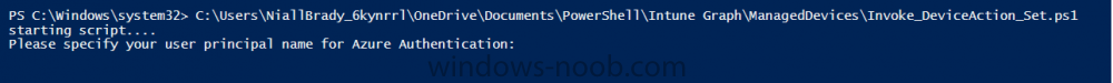 specify user principal name for azure authentication.png