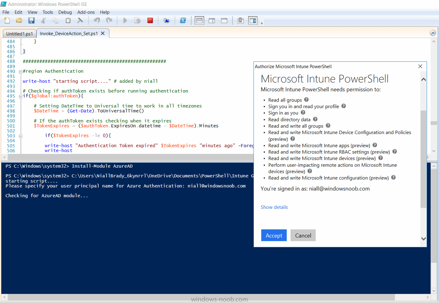 Getting started with Microsoft Graph and using PowerShell to