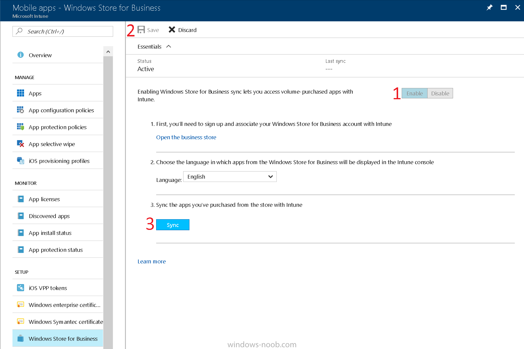 How can I integrate Microsoft Store for Business with Intune