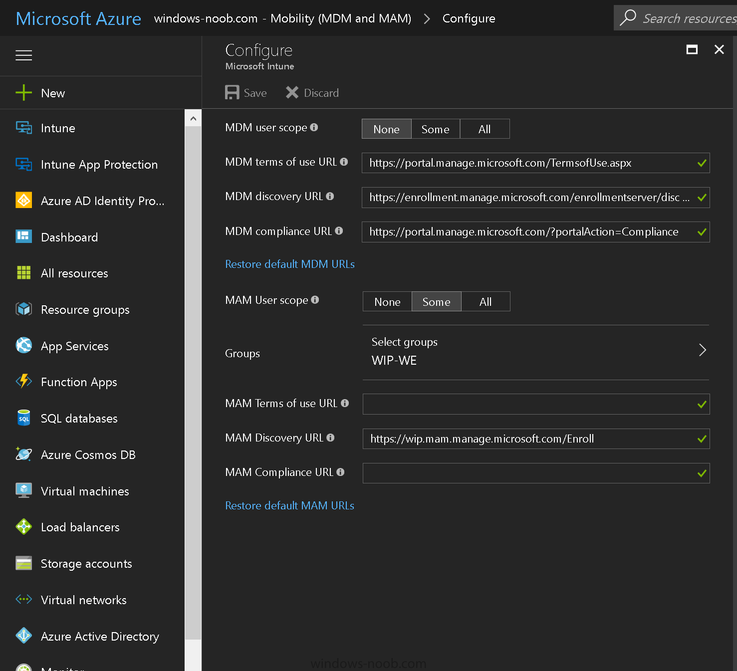 How can I enable MDM auto-enrollment for Microsoft Intune in