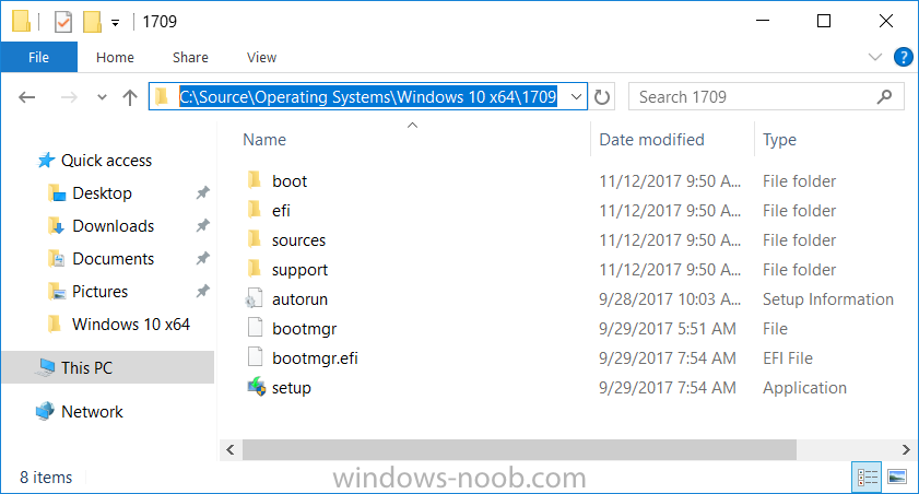 How can I automate the deployment of Windows 10 version 1709 (Fall