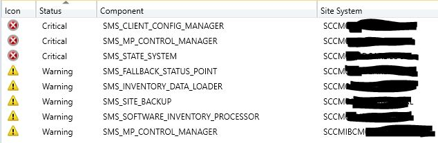 Is there a doctor in the house? My SCCM is sick! - System