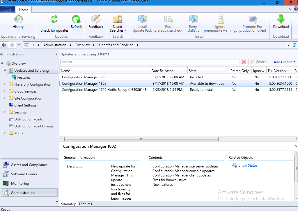 Upgrading to System Center Configuration Manager (Current