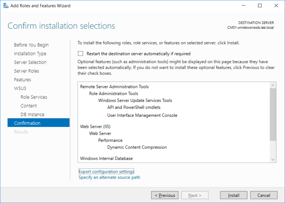 WSUS confirm installation selections.png
