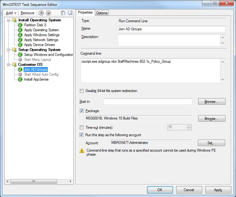 VB Script during task sequence - scripting - www windows-noob com