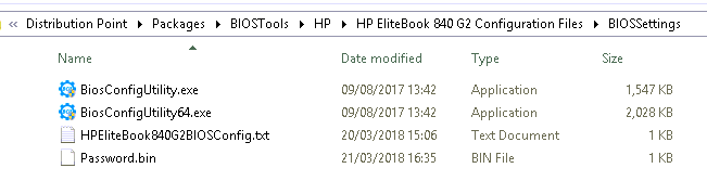 SCCM - Pushing HP Bios Settings via OSD (Win10 1709)