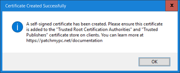 certificate created successfully.png