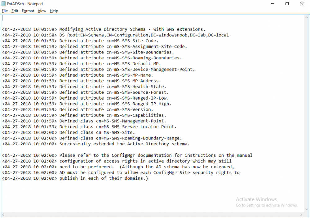 schema has been extended via powershell script on cm01.png