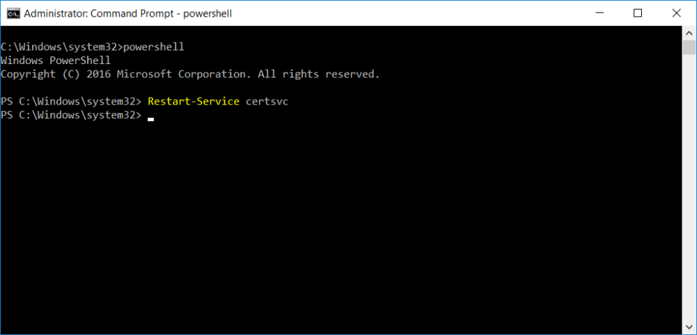 restart service using PowerShell.png