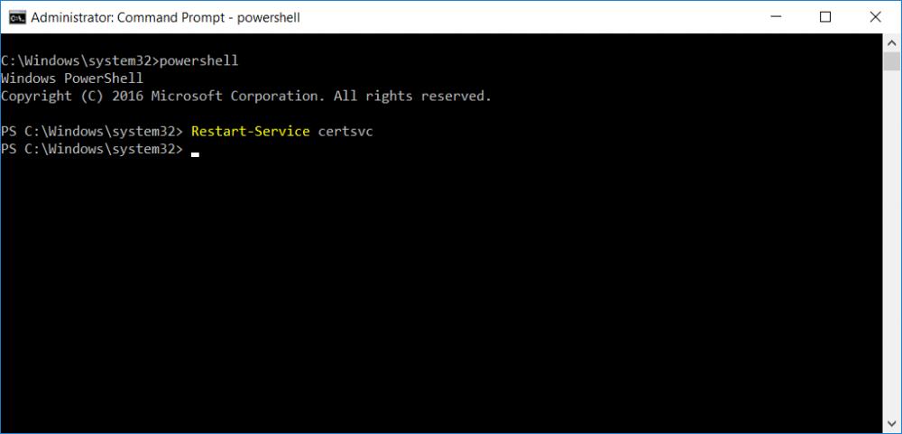 restart service using PowerShell.png