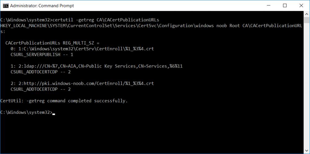 confirm command using certutil getreg.png