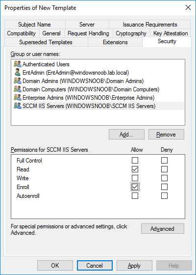 add sccm iis servers read and enroll.png
