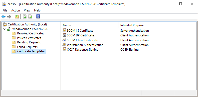 certificate templates now showing the SCCM templates.png