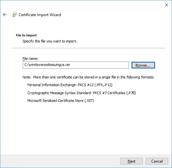 import CER file.png