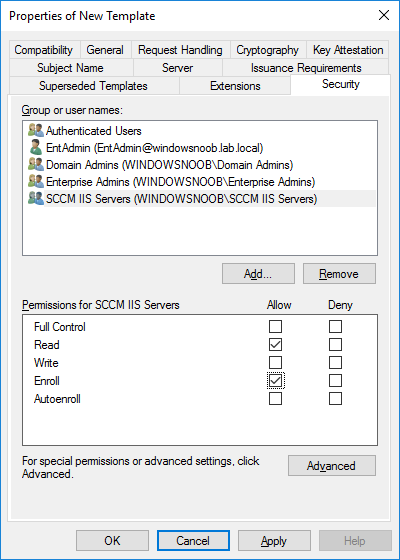security tab sccm iis servers.png