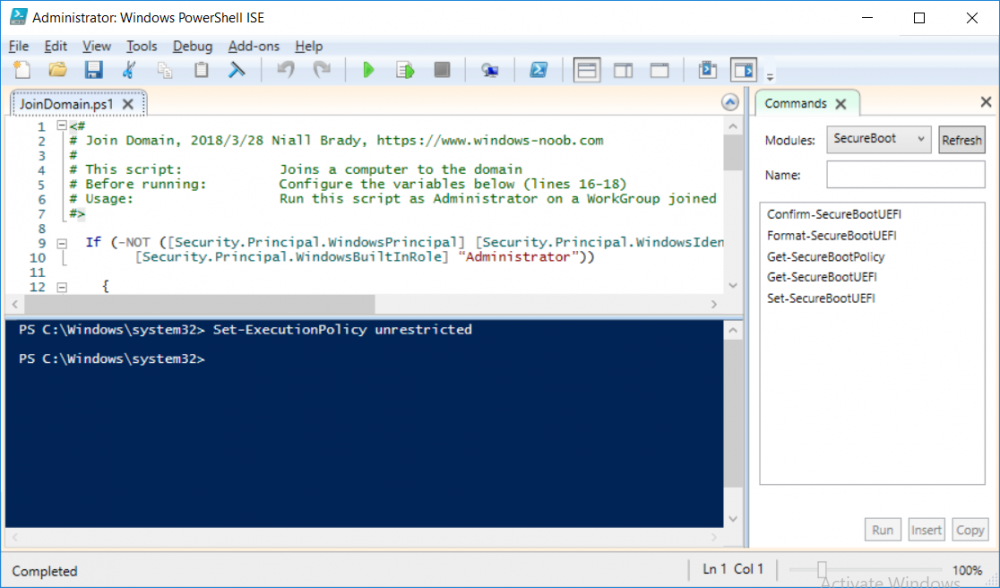 join domain powershell script in ise.png
