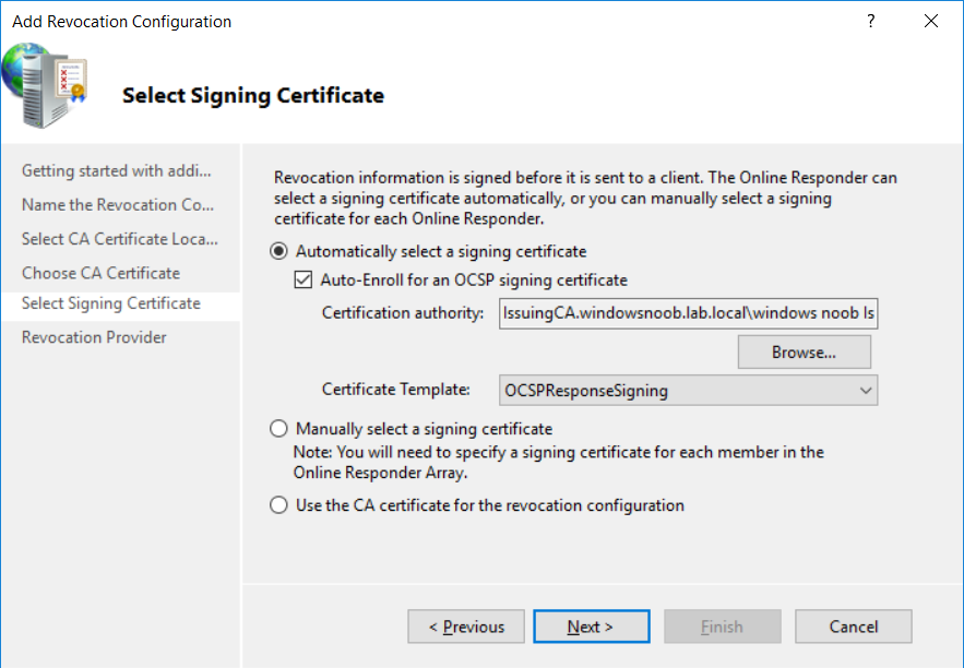 select signing certificate defaults.png