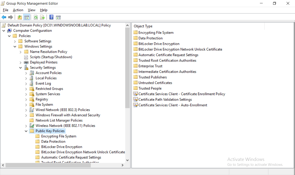 How can I configure PKI in a lab on Windows Server 2016 - Part 7