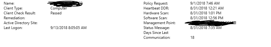 Sccm clients showing inactive - Configuration Manager 2012