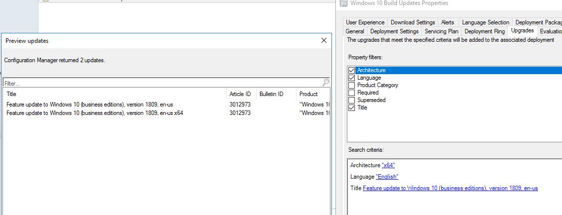 Sccm Upgrade Windows 10 1607 To 1809