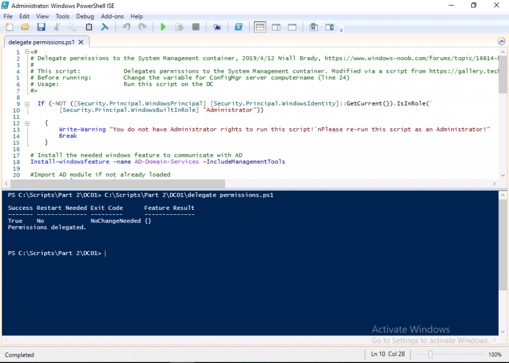 Permissions Delegated using PowerShell.png