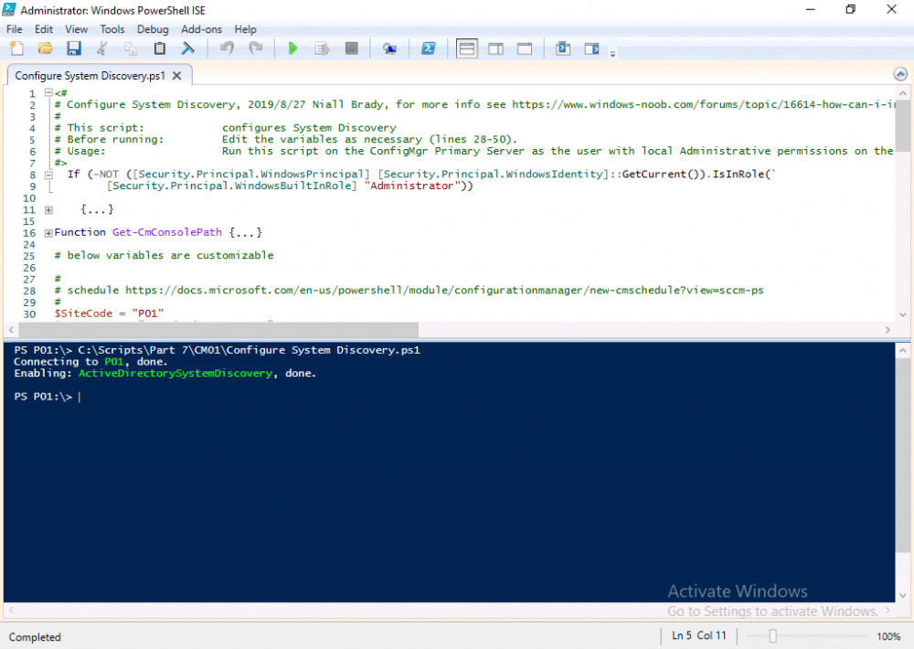 configure system discovery with powershell.png