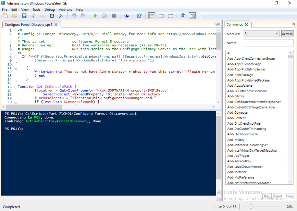 configure forest discovery powershell script.png