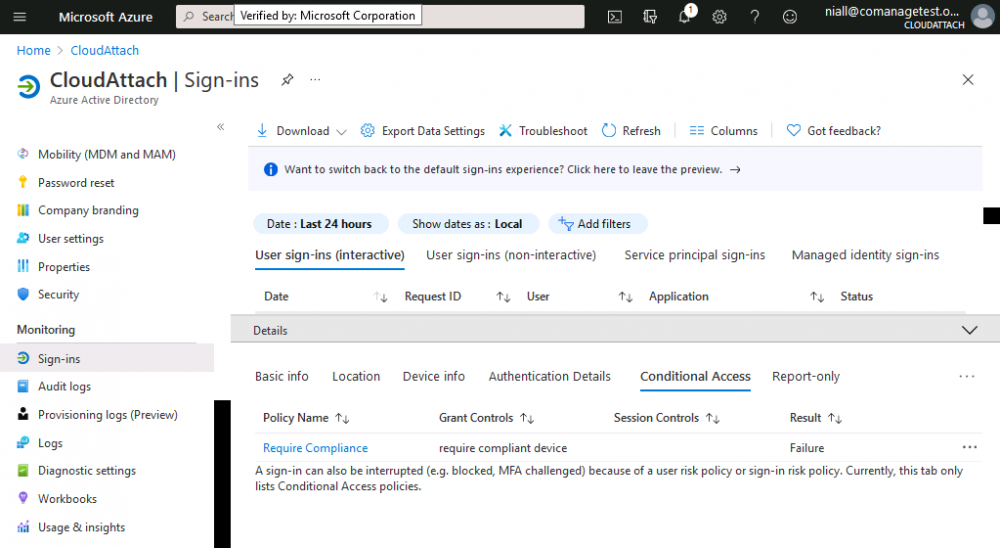 require compliance - failure Conditional Access.png