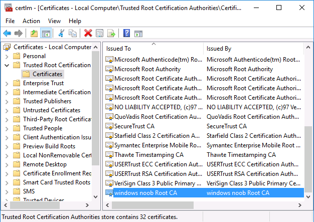 export trusted root cer file.png